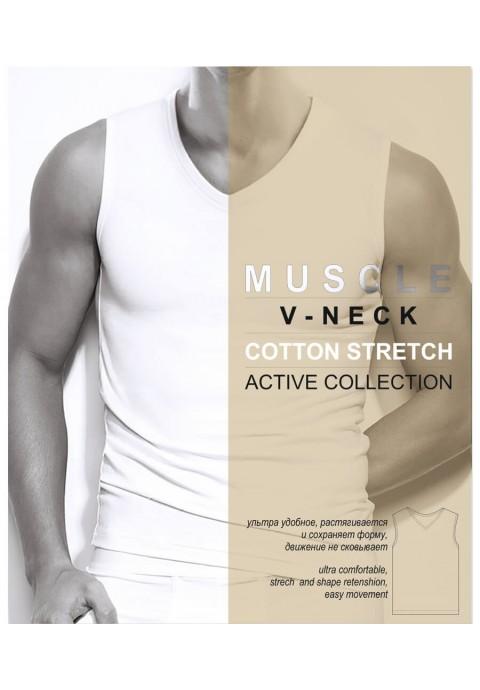 Danni Muscle V-Neck Տղամարդու ներքնաշապիկ